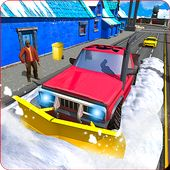 重雪犁清洁道路模拟器3D - Heavy Snow Plow Clean Road Simulator 3D